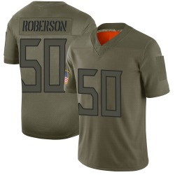 Limited Derick Roberson Men's Tennessee Titans Camo 2019 Salute to Service Jersey - Nike