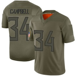 Limited Earl Campbell Youth Tennessee Titans Camo 2019 Salute to Service Jersey - Nike