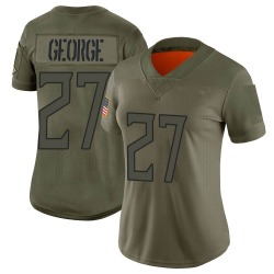 Limited Eddie George Women's Tennessee Titans Camo 2019 Salute to Service Jersey - Nike