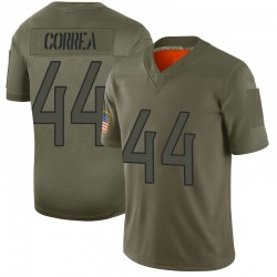 Limited Kamalei Correa Youth Tennessee Titans Camo 2019 Salute to Service Jersey - Nike
